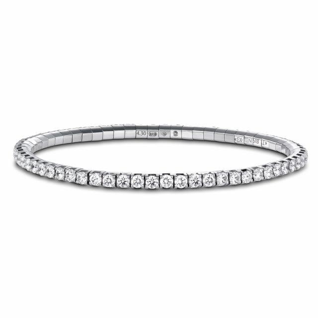 Armbånd New Tennis i hvitt gull med diamanter