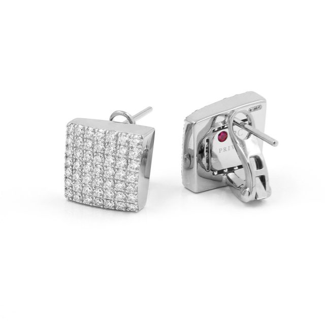 Sauvage Privé geometriske diamantørepynt i hvitt gull.