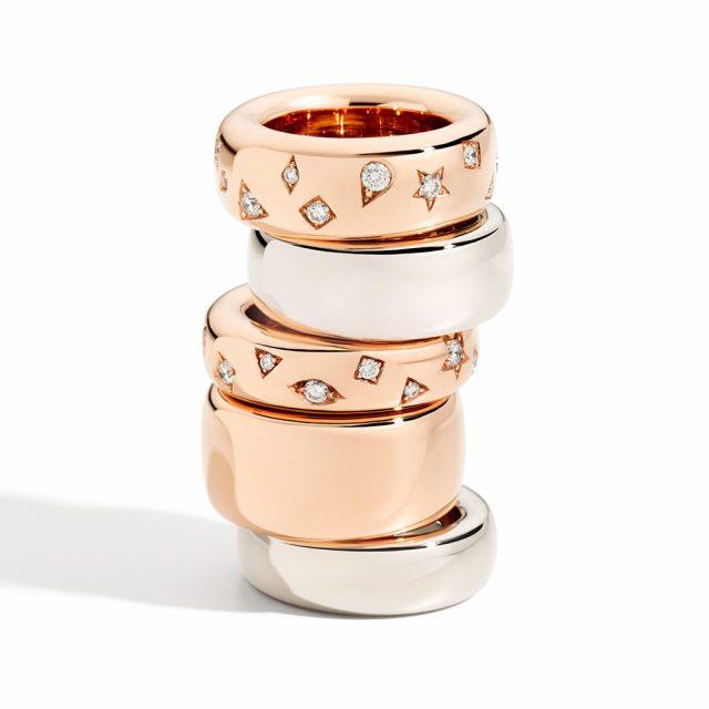 ICONICA ringer i rosé- og hvitt gull med og uten diamanter