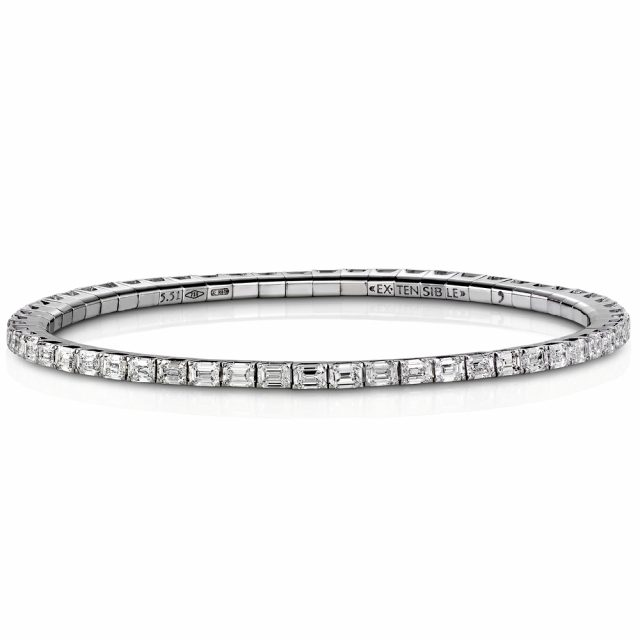 Armbånd New Tennis med smaragdslipte diamanter