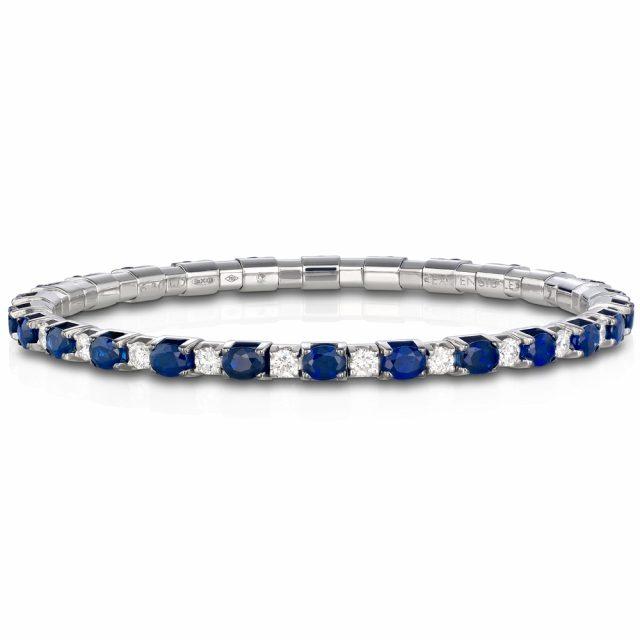 Armbånd New Tennis med safirer og diamanter